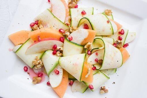 salade de melon et concombres